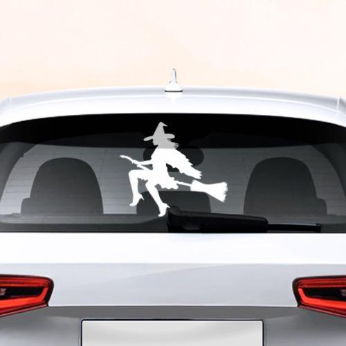 Наклейка на авто - для заднего стекла Ведьма