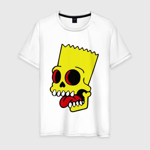 Мужская футболка хлопок Барт Симпсон. Зомби