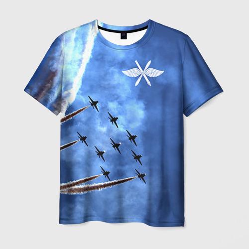 Мужская футболка 3D Самолеты в небе