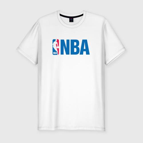 Мужская футболка хлопок Slim NBA