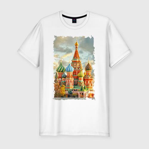 Мужская футболка хлопок Slim Собор Василия Блаженного