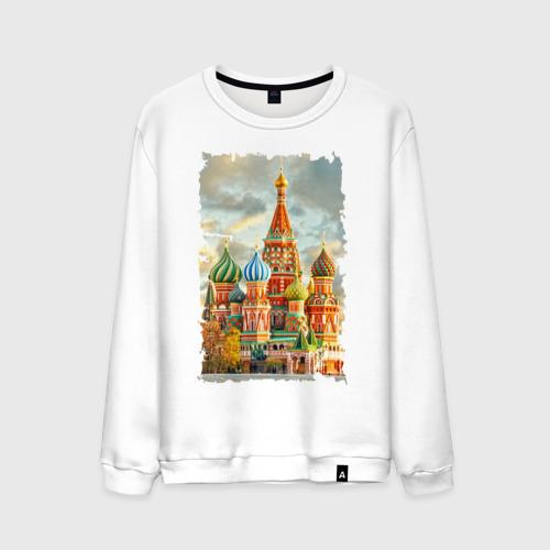 Мужской свитшот хлопок Собор Василия Блаженного