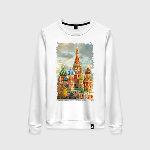 Женский свитшот хлопок Собор Василия Блаженного