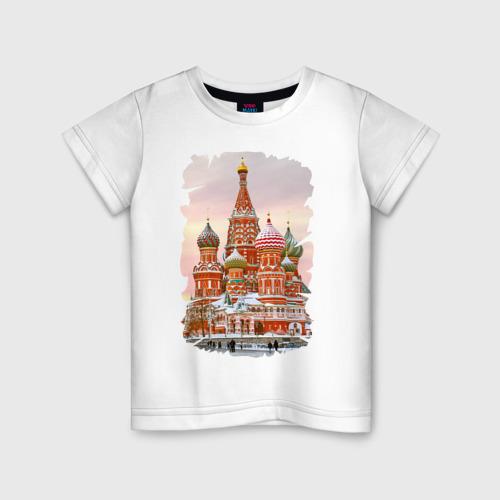 Детская футболка хлопок Собор Вас. Блаженного (осень)