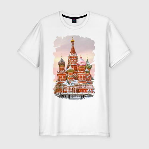 Мужская футболка хлопок Slim Собор Вас. Блаженного (осень)