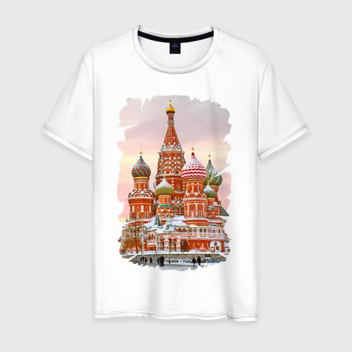 Мужская футболка хлопок Собор Вас. Блаженного (осень)