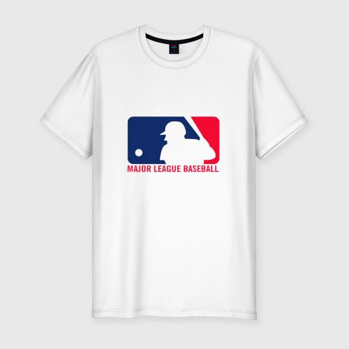 Мужская футболка хлопок Slim Бейсбол