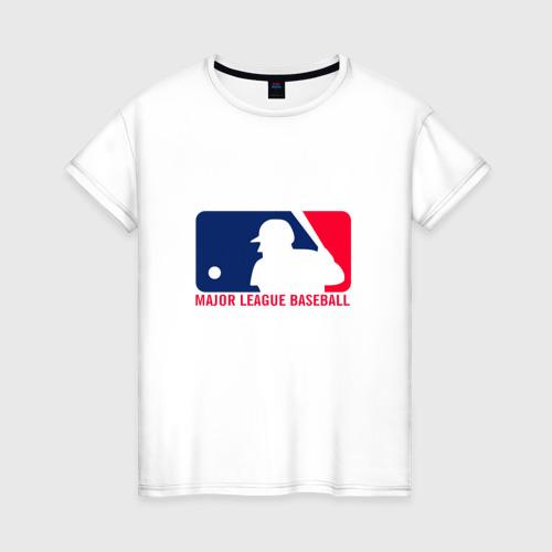 Женская футболка хлопок Бейсбол