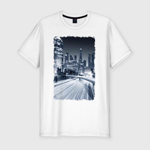 Мужская футболка хлопок Slim Ночной город
