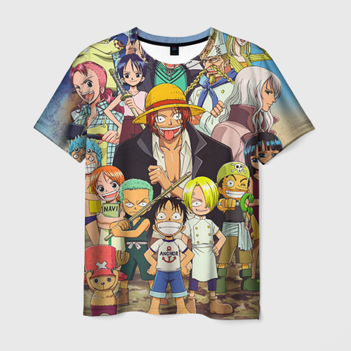Мужская футболка 3D One Piece персонажи