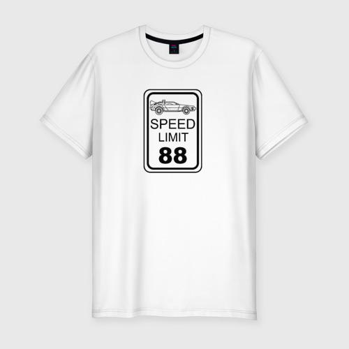 Мужская футболка хлопок Slim Знак ограничения скорости