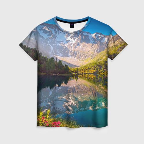 Женская футболка 3D Природа