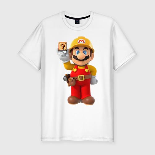 Мужская футболка хлопок Slim Super Mario