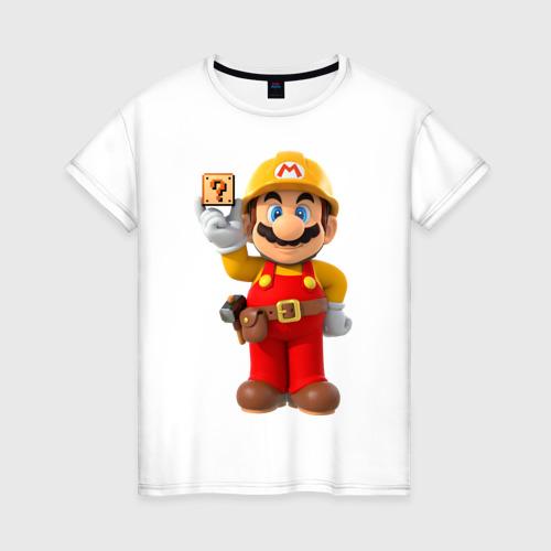 Женская футболка хлопок Super Mario