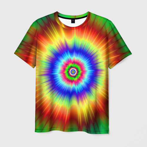 Мужская футболка 3D Tie dye