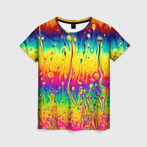Женская футболка 3D Tie dye