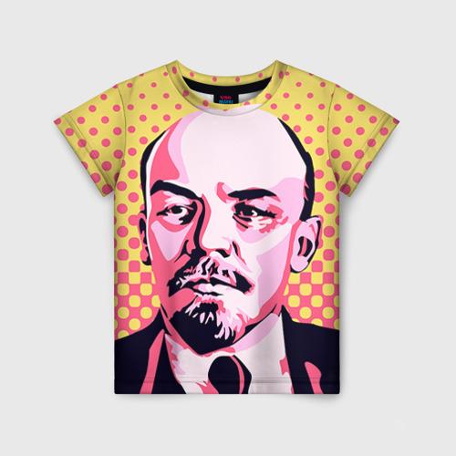 Детская футболка 3D Поп-арт. Ленин
