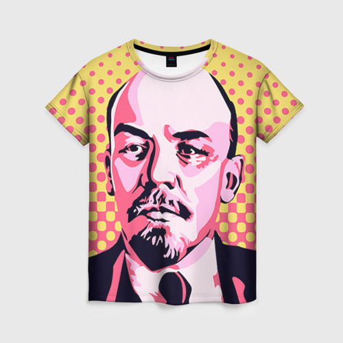 Женская футболка 3D Поп-арт. Ленин