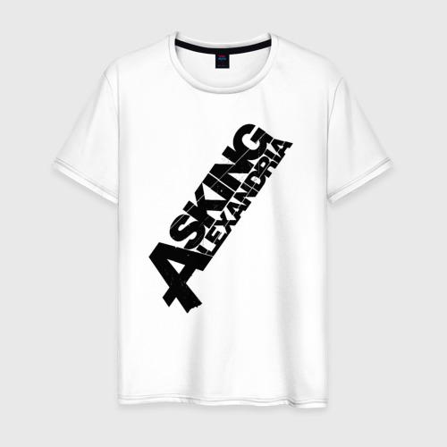 Мужская футболка хлопок Asking Alexandria Logo