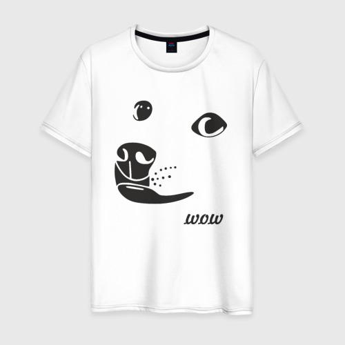 Мужская футболка хлопок doge wow