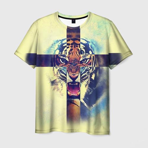 Мужская футболка 3D Хипстер Тигр