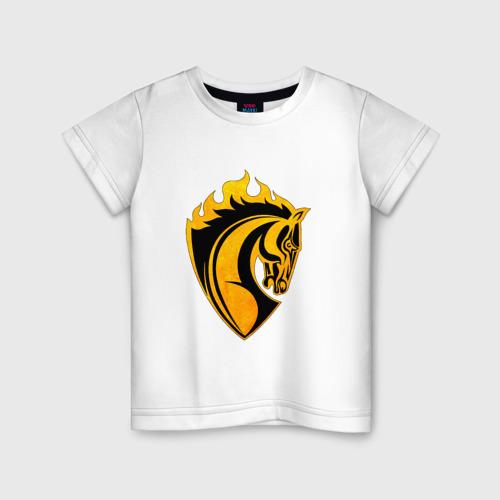 Детская футболка хлопок Конь символ
