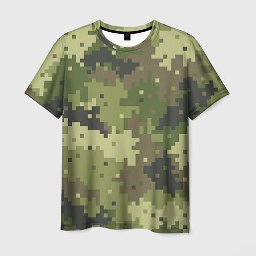 Мужская футболка 3D Хаки