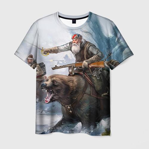 Мужская футболка 3D Медведь