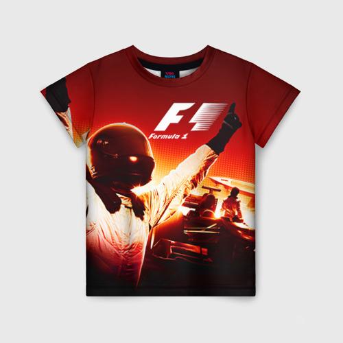Детская футболка 3D Формула 1