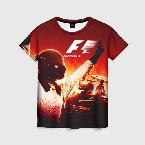 Женская футболка 3D Формула 1