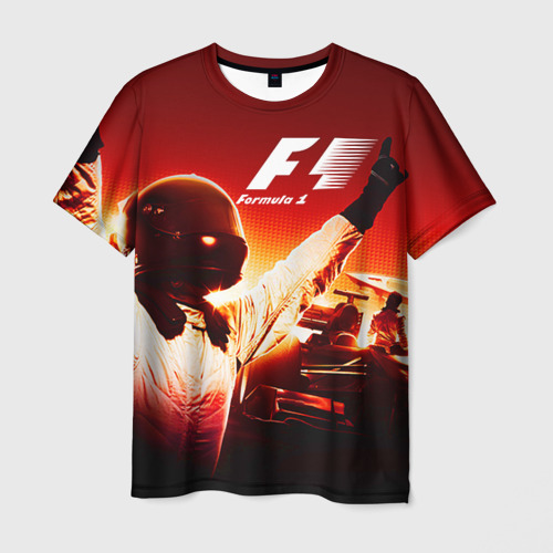 Мужская футболка 3D Формула 1