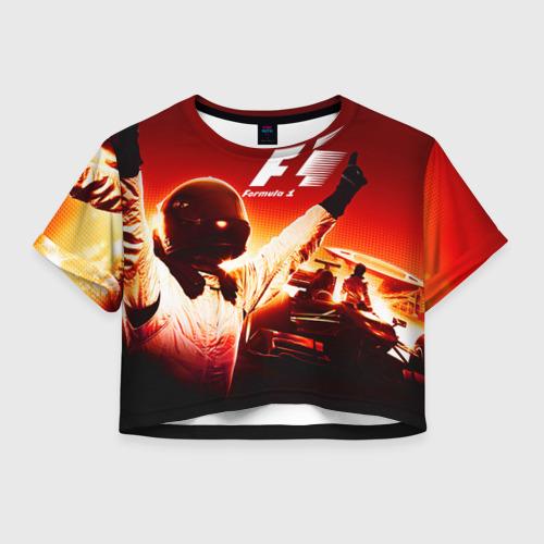 Женская футболка Crop-top 3D Формула 1