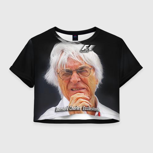Женская футболка Crop-top 3D Бернард Экклстоун