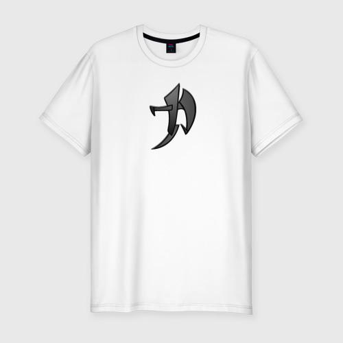 Мужская футболка хлопок Slim Иероглиф Сила
