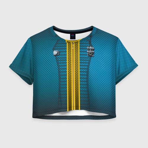 Женская футболка Crop-top 3D Комбинезон Убежища 111
