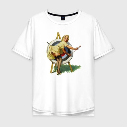 Мужская футболка хлопок Oversize Девушка ретро