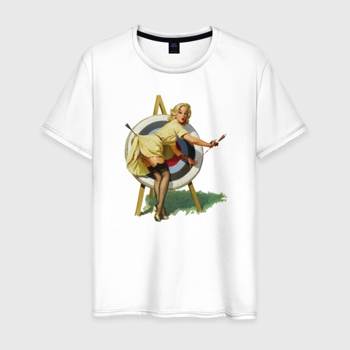 Мужская футболка хлопок Девушка ретро