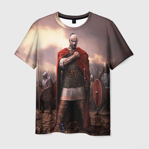 Мужская футболка 3D Князь Святослав Игоревич
