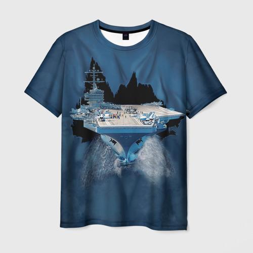 Мужская футболка 3D Авианосец