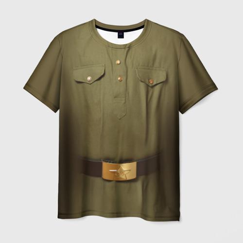 Мужская футболка 3D Солдатская форма