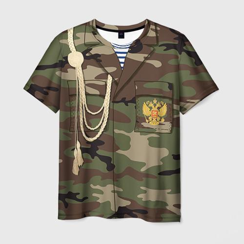 Мужская футболка 3D Армейская форма