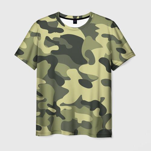 Мужская футболка 3D Камуфляж Хаки