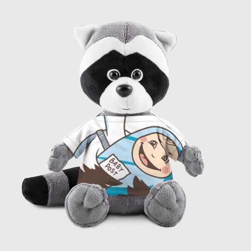 Игрушка Енотик в футболке 3D Аист с малышом