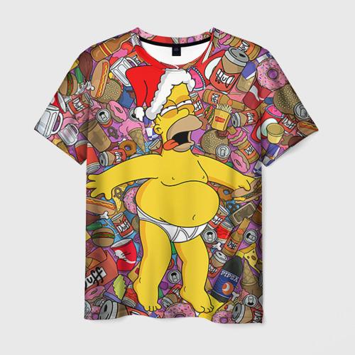 Мужская футболка 3D Обжора Гомер
