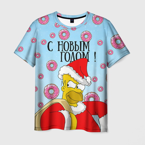 Мужская футболка 3D С Новым Годом!