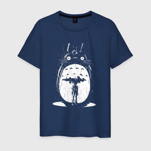 Мужская футболка хлопок Totoro in rain