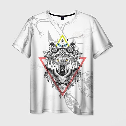 Мужская футболка 3D Волк
