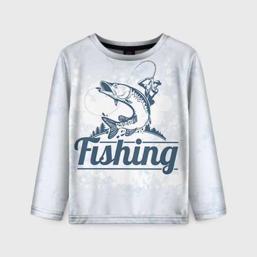 Детский лонгслив 3D Рыбалка