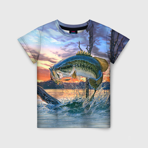 Детская футболка 3D Рыба