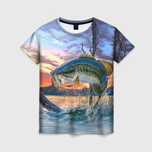 Женская футболка 3D Рыба
